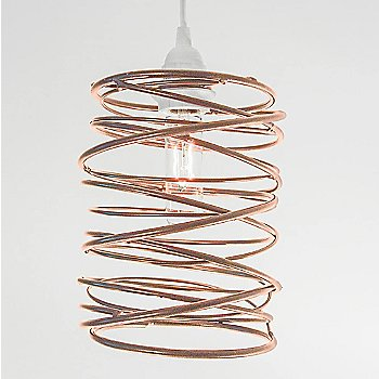 Antique Copper Plated finish White Cord Set
