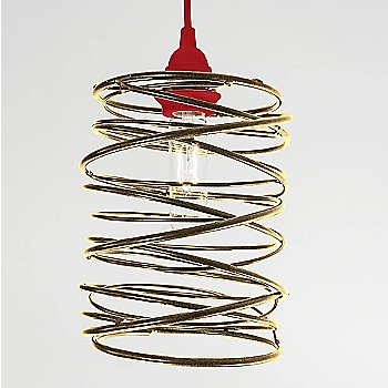 Antique Brass Plated finish Red Cord Set