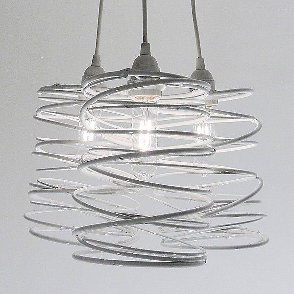 Spiral Nest Cluster 3 Light Chandelier