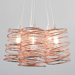 Spiral Nest Cluster 5 Light Chandelier