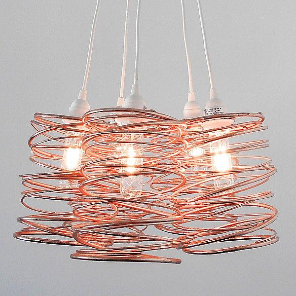 Spiral Nest Cluster 5 Light Chandelier