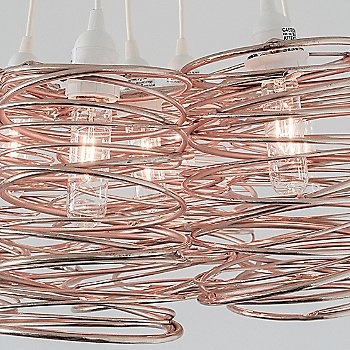 Copper Plated / White Cord Set, Detail