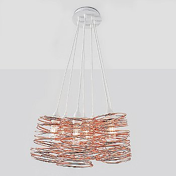 Copper Plated / White Cord Set