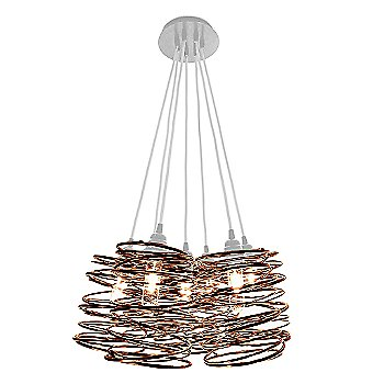 Copper Plated finish / White Cord Set / White Canopy