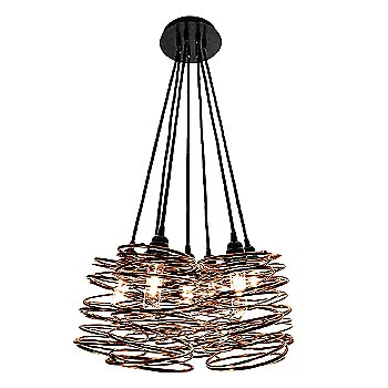 Copper Plated finish / Black Cord Set / Black Canopy