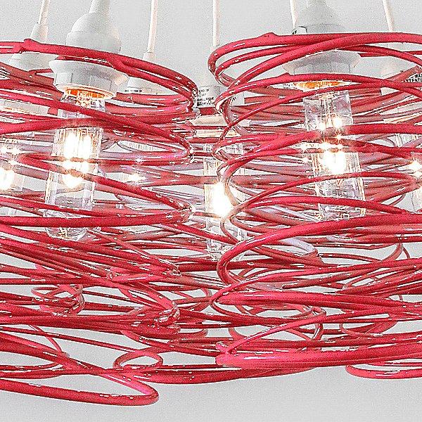 Spiral Nest Cluster 7 Light Chandelier