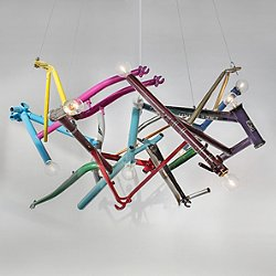 Bicycle Round Chandelier