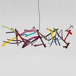 Bicycle Linear Chandelier