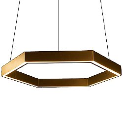 Hex Brass LED Pendant Light - OPEN BOX RETURN