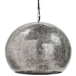 Pierced Metal Sphere Pendant Light