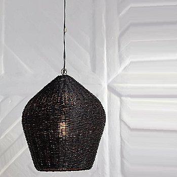 Black finish, in use
