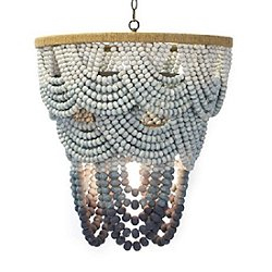 Coastal Living Ombre Wood Bead Chandelier