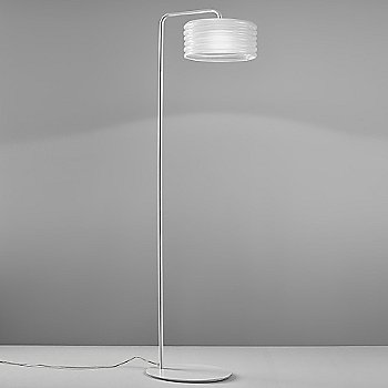 Shown in White Glass with White Metal finish