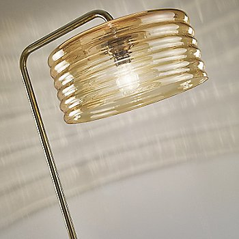 Shown in Amber Glass with Auburn Metal finish