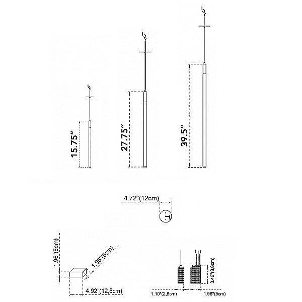 Tubino Single LED Pendant Light