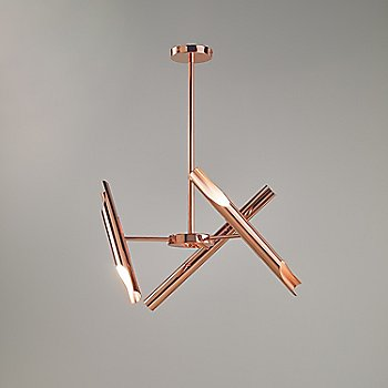 Polished Copper finish, crossed configuration