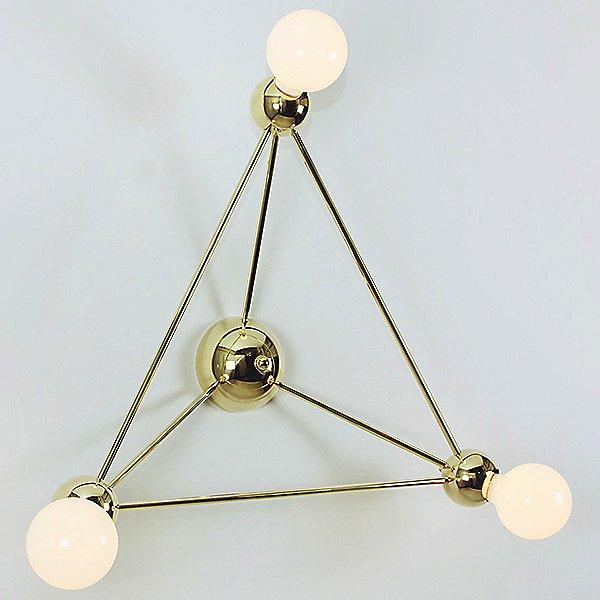 Lina 03-Light Triangle Wall Sconce