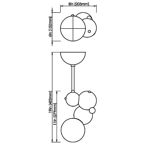 Bubbly 01-Light Pendant Light