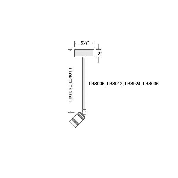 LS Series LED Bullet Head Indoor/Outdoor Stem Mini Pendant