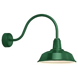 Heavy Duty Outdoor Wall Sconce (Green/14/23) - OPEN BOX