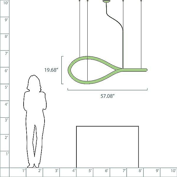 Squiggle Figure 8 LED Chandelier