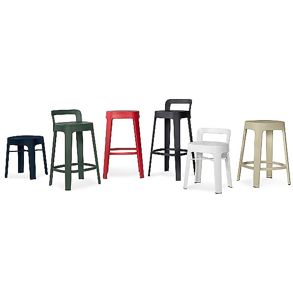 Ombra Stool, Low With Backrest