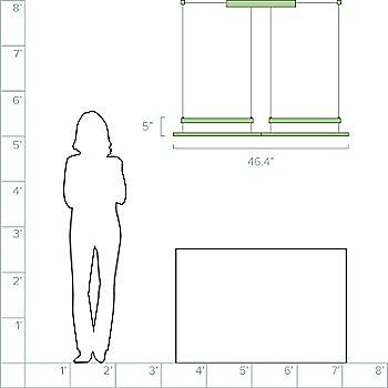 2 Modules / 46.4 inch