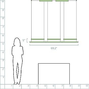 3 Modules / 69.2 inch