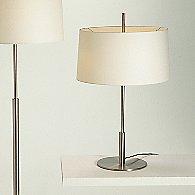 Diana Table Lamp (Satin Nickel/White Linen)-OPEN BOX RETURN