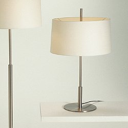 Diana Table Lamp (Satin Nickel/White Linen)-OPEN BOX RETURN