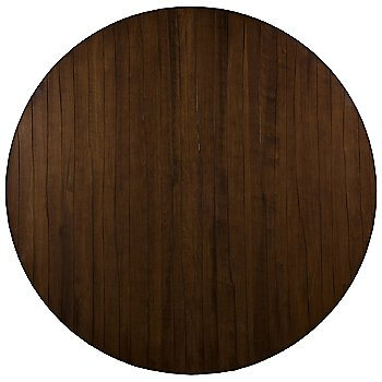 Etched Round with Walnut finish