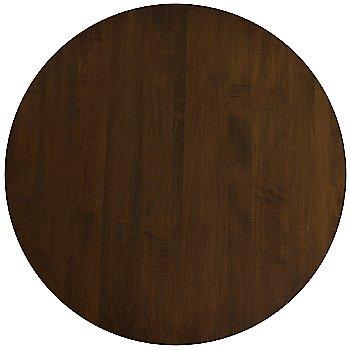 Walnut finish,  Round size