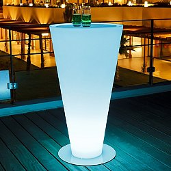 Up Lighted Bar-Height Table