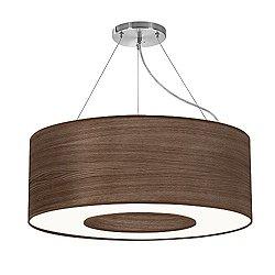 Aperture Suspension Light (Photo Walnut Stained Veneer/30 Inch) - OPEN BOX RETURN