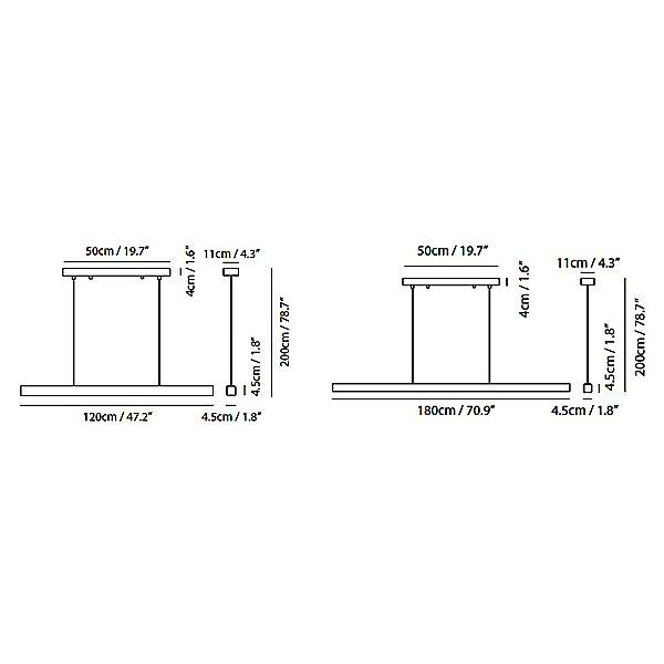 Mumu LED Linear Suspension Pendant Light
