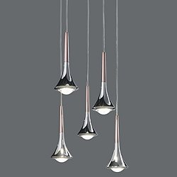 Rain 3 Light Linear Multipoint Pendant Light