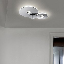 Bugia Flush Mount Ceiling Light (Chrome/3000/2)-OPEN BOX