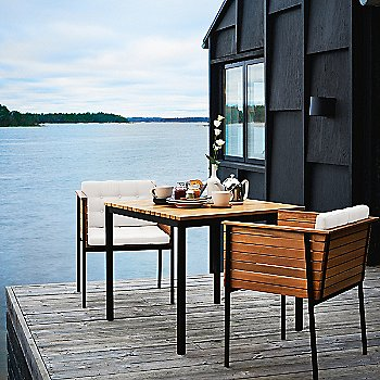 Pictured with the Haringe Square Table Teak (sold separately)