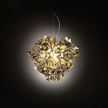 Gold finish, illuminated