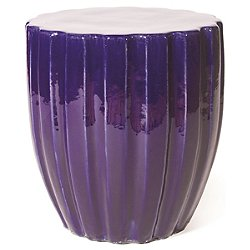 Scallop Ceramic Stool