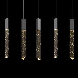 Trinity Rectangle Cluster LED Pendant Light