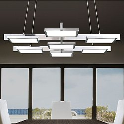 Panels 7 Light Rectangle LED Pendant Light