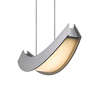 Shown as lit in Bright Satin Aluminum finish, Large size