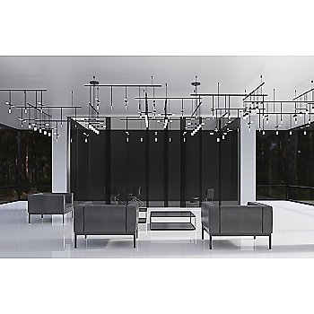 Shown in Etched Chiclet Single/Cluster Luminaire Combination
