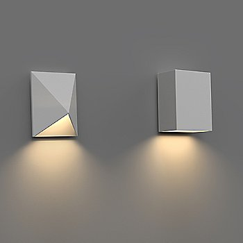 Box Indoor/Outdoor LED Wall Sconce with Triform Compact Indoor/Outdoor LED Wall Sconce