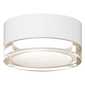 Shown in Clear Acrylic Cylinder, Textured White finish