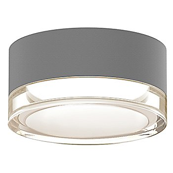 Shown in Clear Acrylic Cylinder, Textured Gray finish