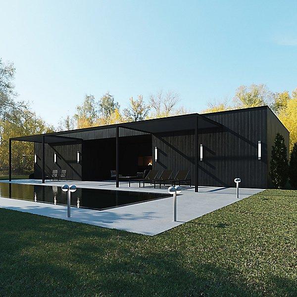 Reals LED Double Bollard - Dome Cap