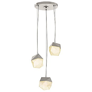 Satin Nickel / Small shade / 3 Light