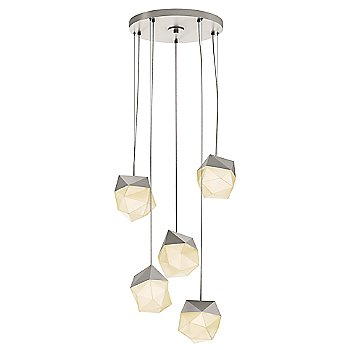 Satin Nickel / Small shade / 5 Light